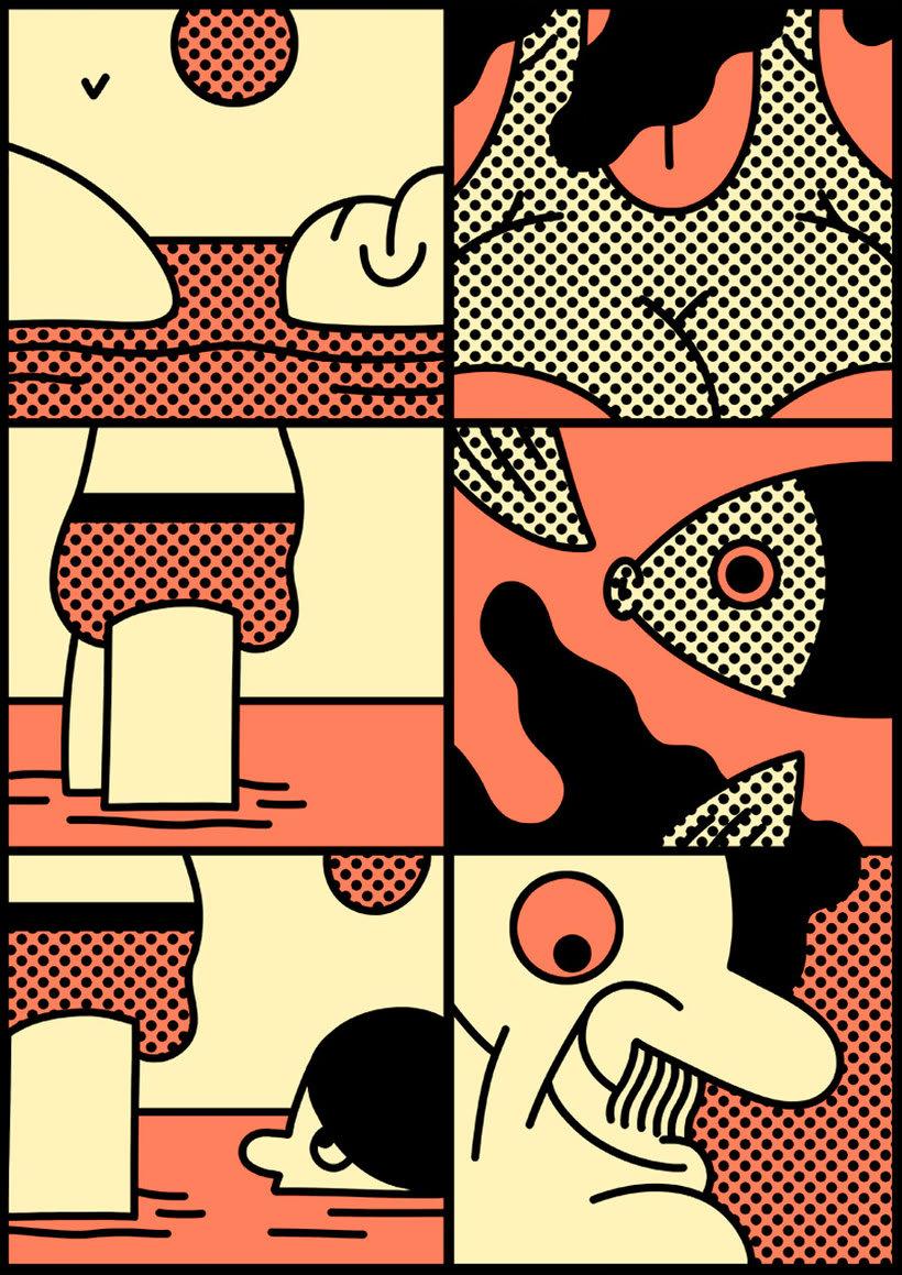 Ilustraciones animadas en clave de cómic de Simon Landrein 7