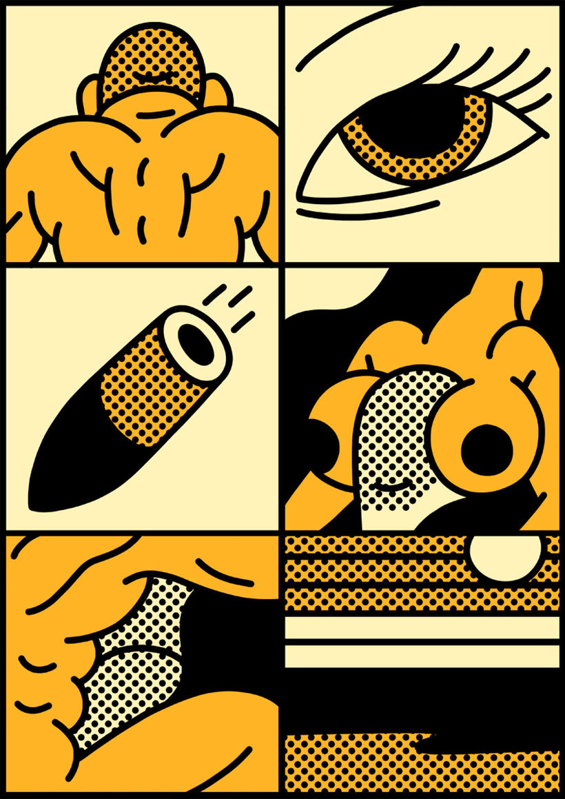 Ilustraciones animadas en clave de cómic de Simon Landrein 9
