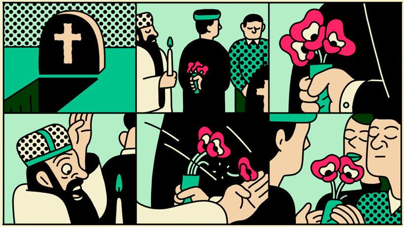 Ilustraciones animadas en clave de cómic de Simon Landrein 11
