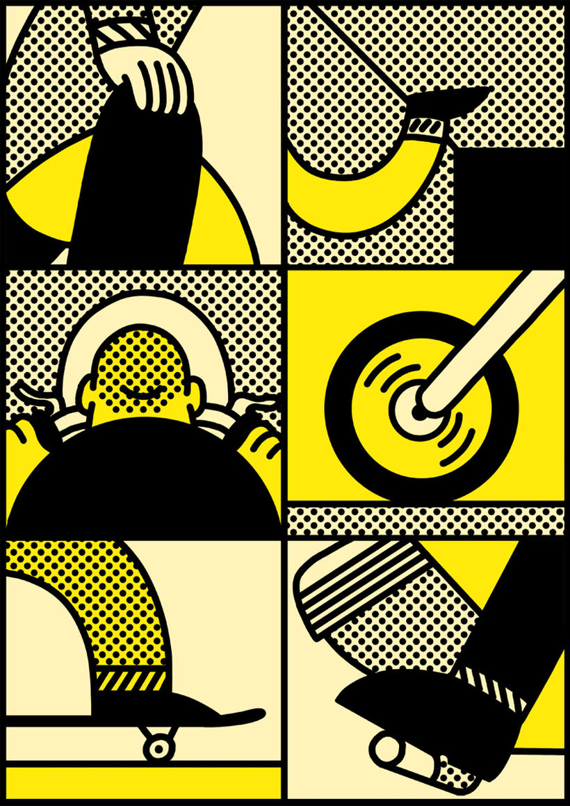 Ilustraciones animadas en clave de cómic de Simon Landrein 12