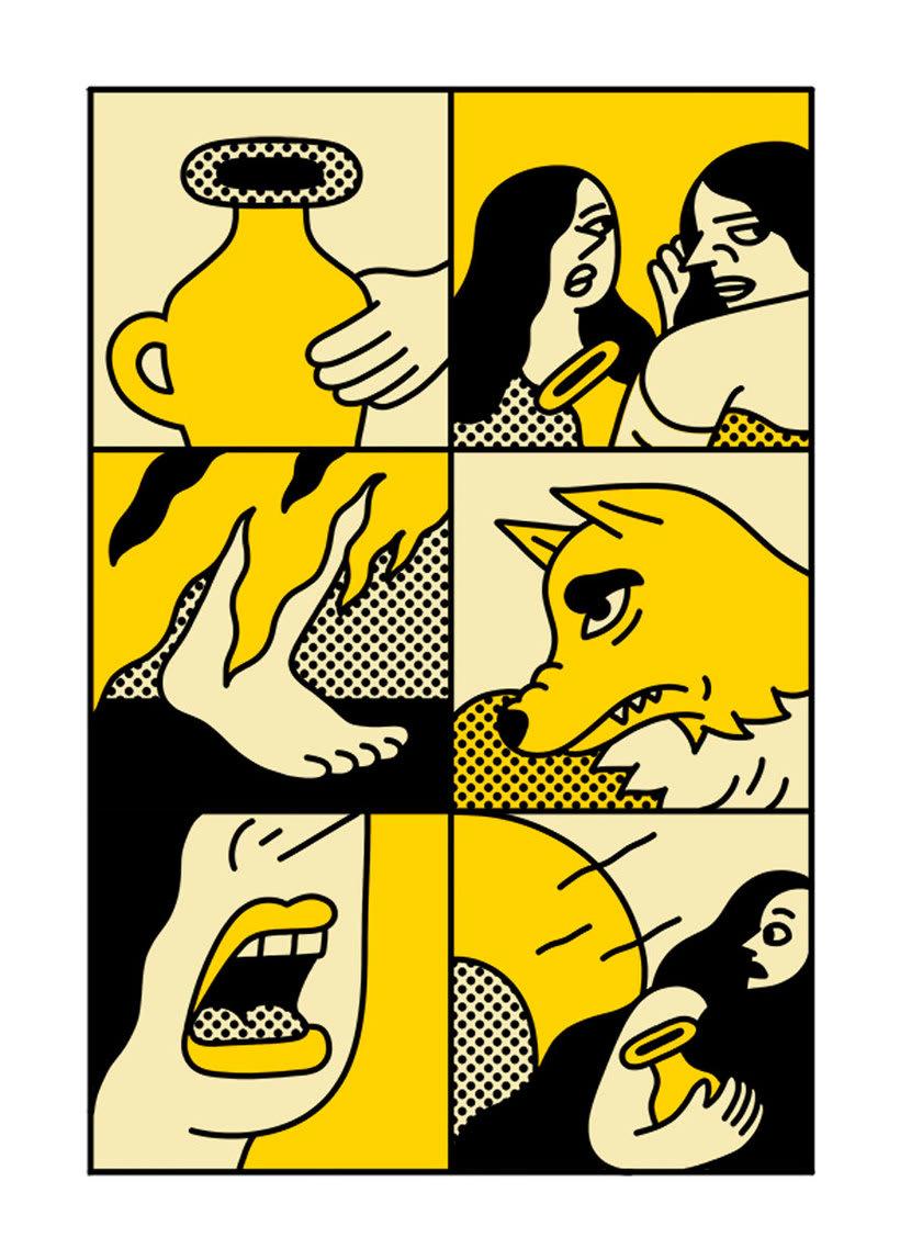 Ilustraciones animadas en clave de cómic de Simon Landrein 14