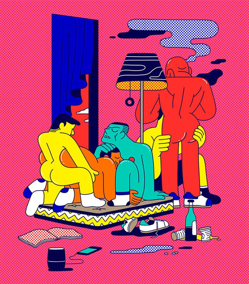 Ilustraciones animadas en clave de cómic de Simon Landrein 20