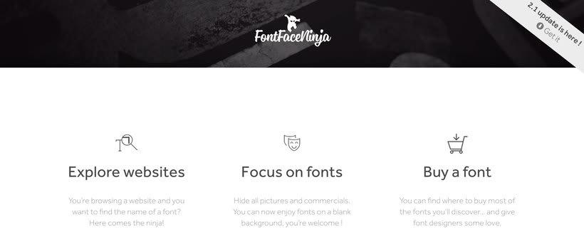 Fontface Ninja: el plugin para identificar tipografías 1