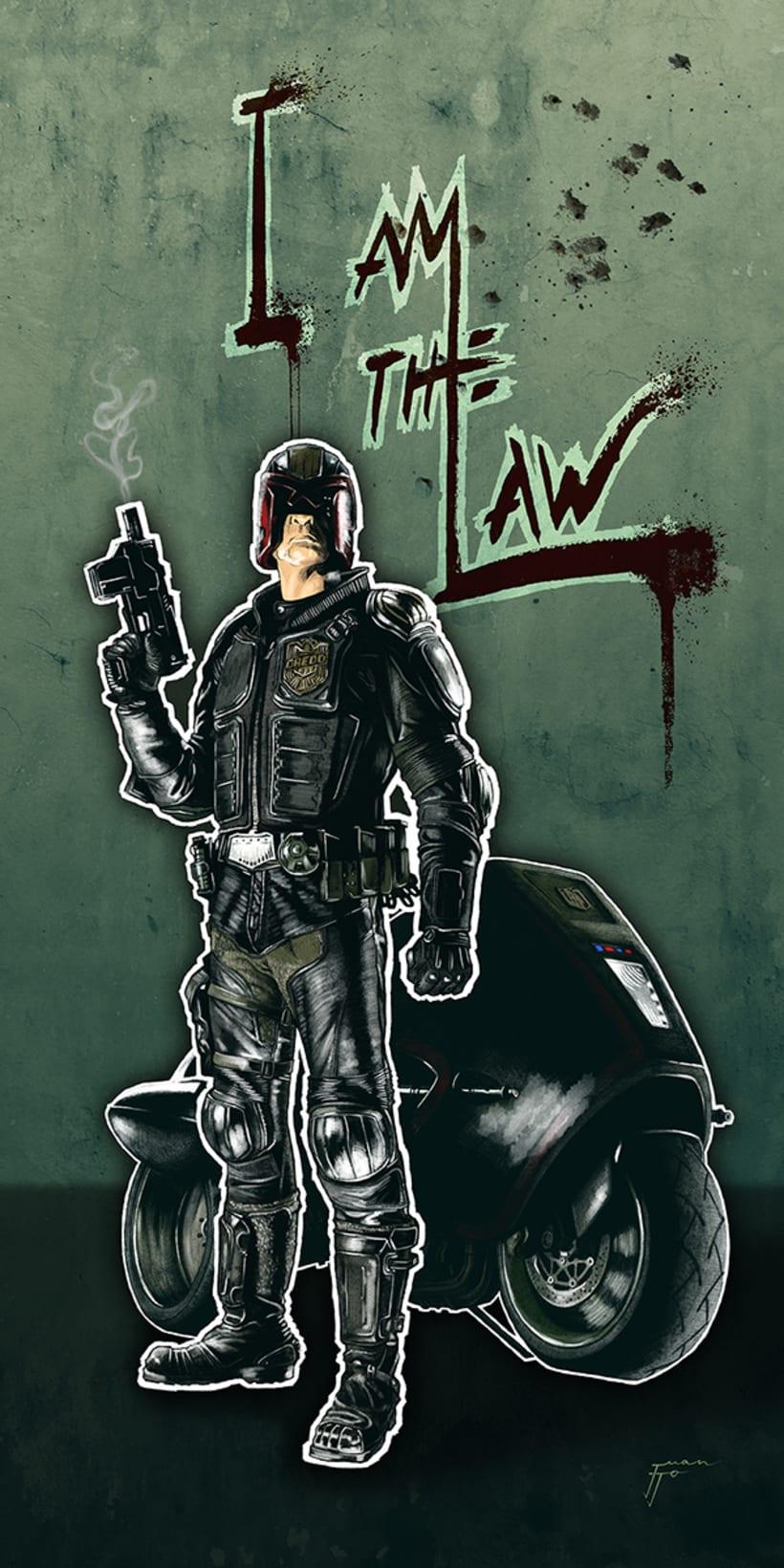 I am the Law - Del lápiz a lo digital -1