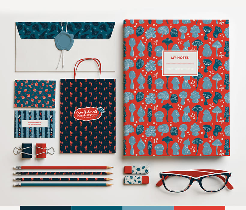 Fungiland- Stationery Pattern Collection 0