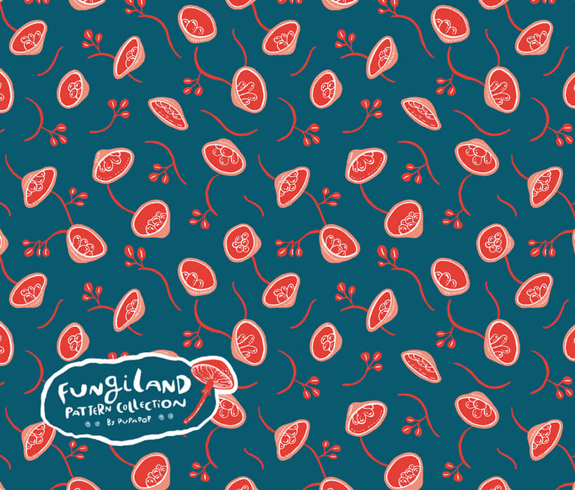 Fungiland- Stationery Pattern Collection 1