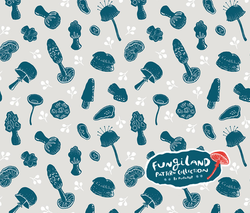 Fungiland- Stationery Pattern Collection 4