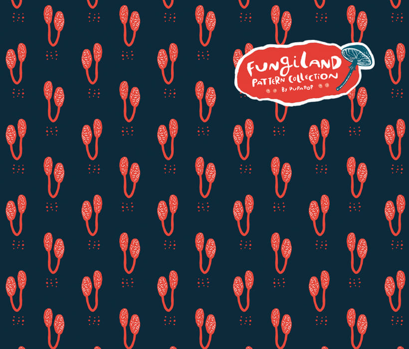 Fungiland- Stationery Pattern Collection 5