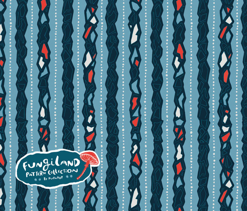 Fungiland- Stationery Pattern Collection 6