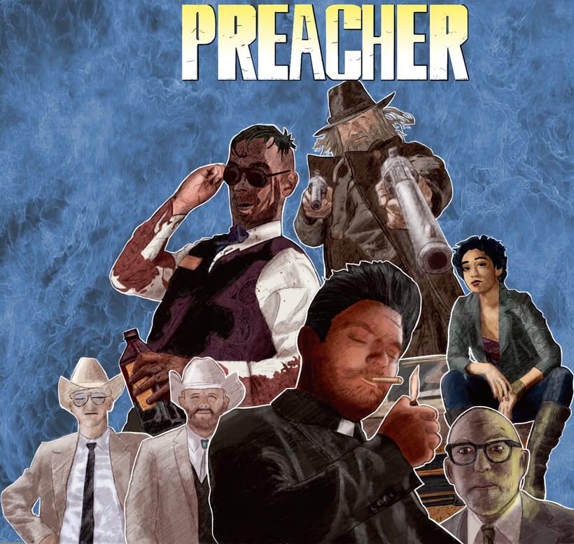 Preacher  comic : Del dibujo a lápiz a la ilustración digital -1