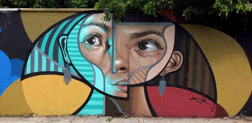 El graffiti realista-cubista de Belin 3