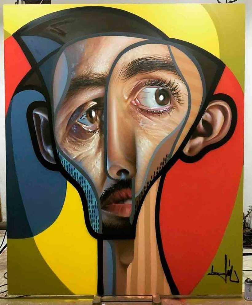 El graffiti realista-cubista de Belin 5