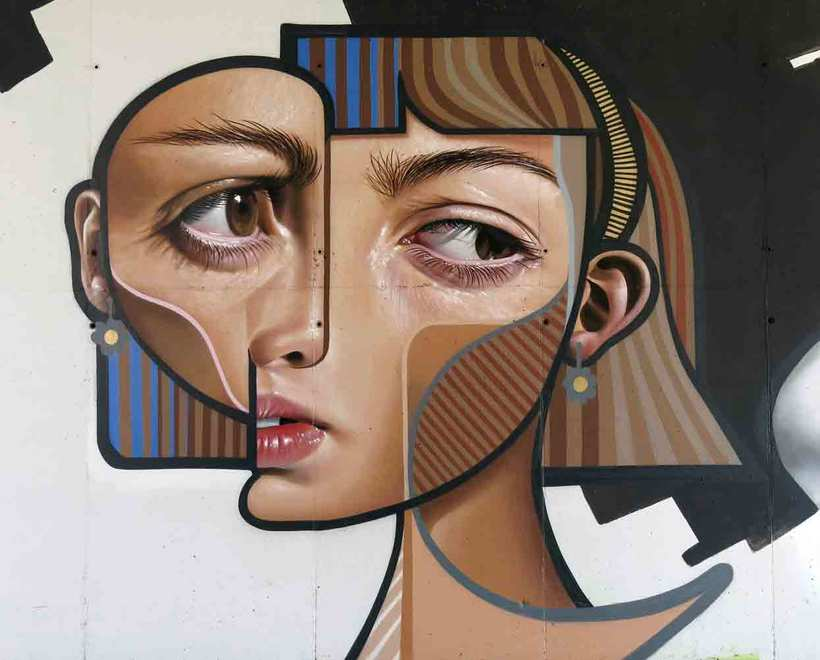 El graffiti realista-cubista de Belin 9