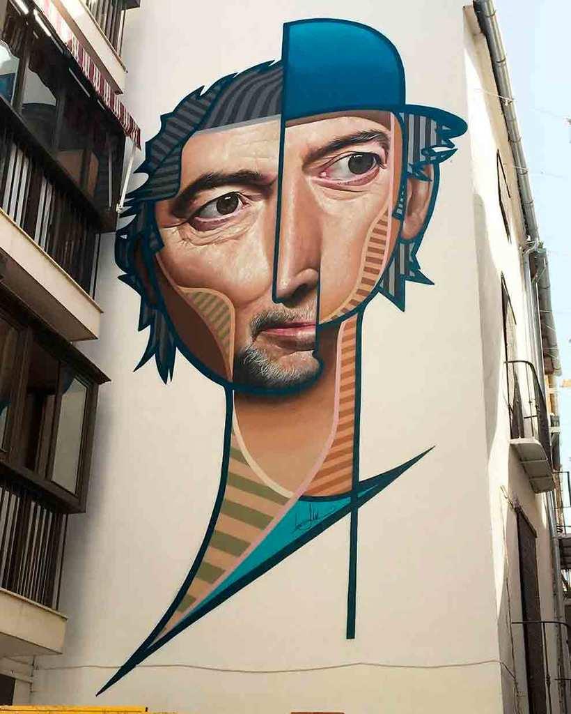 El graffiti realista-cubista de Belin 10