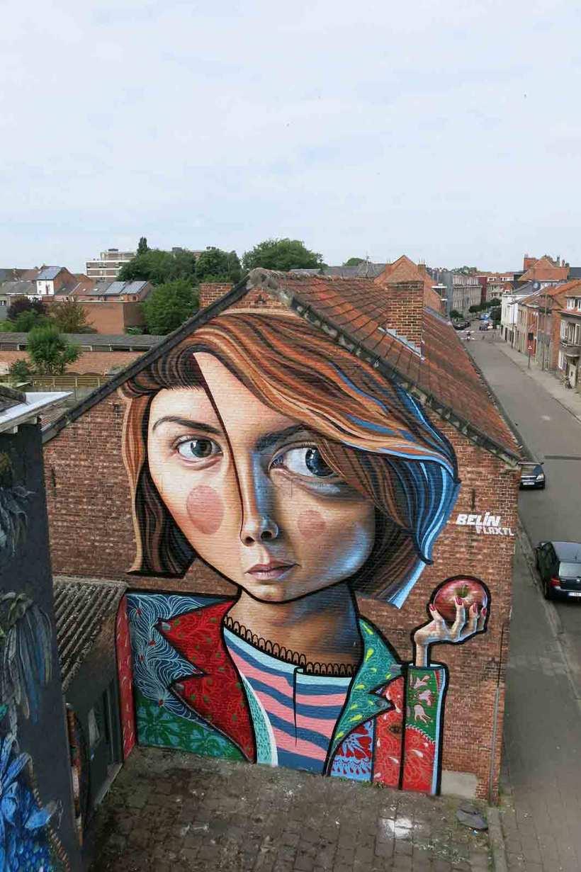 El graffiti realista-cubista de Belin 11