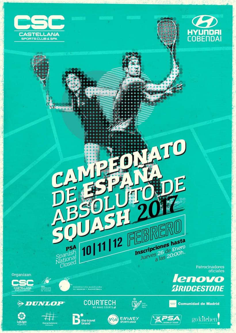 Cartel Campeonato Nacional De Squash 2017 -1