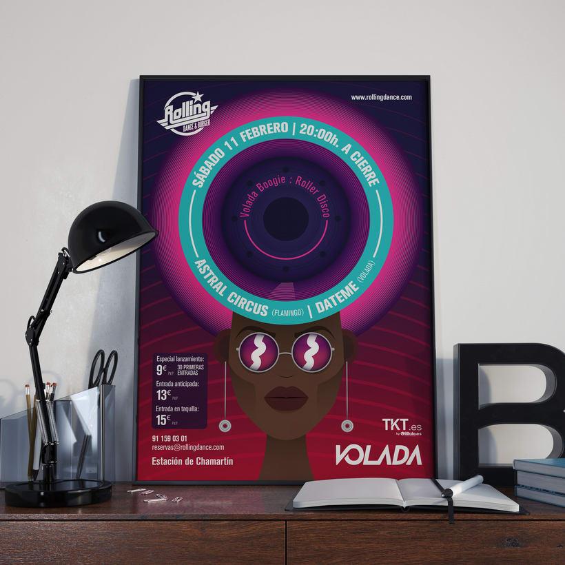 Cartel Volada Boogie: Roller Disco 0