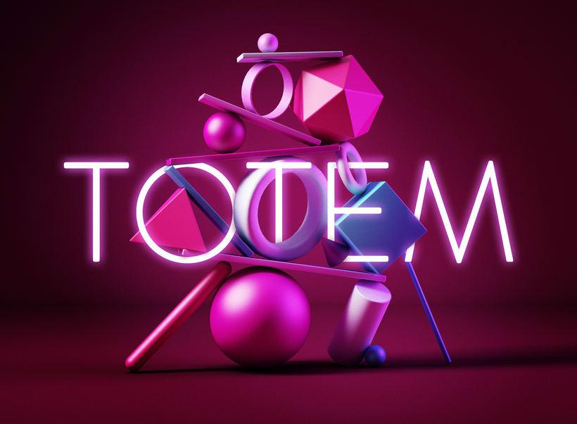 TOTEM, primer proyecto de introducción exprés al 3D: de cero a render con Cinema 4D -1