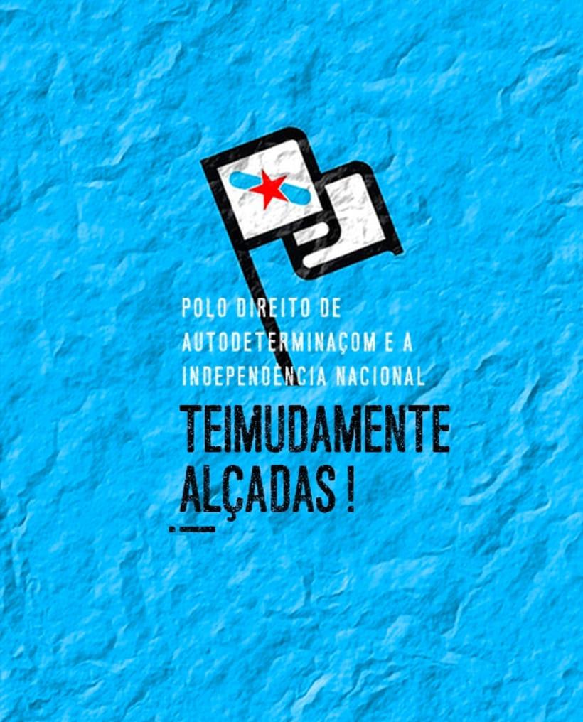 "Gráfica e campanha solidaria com independentistas galegos encausados na ""Operación Jaro"" polo estado espanhol 1"