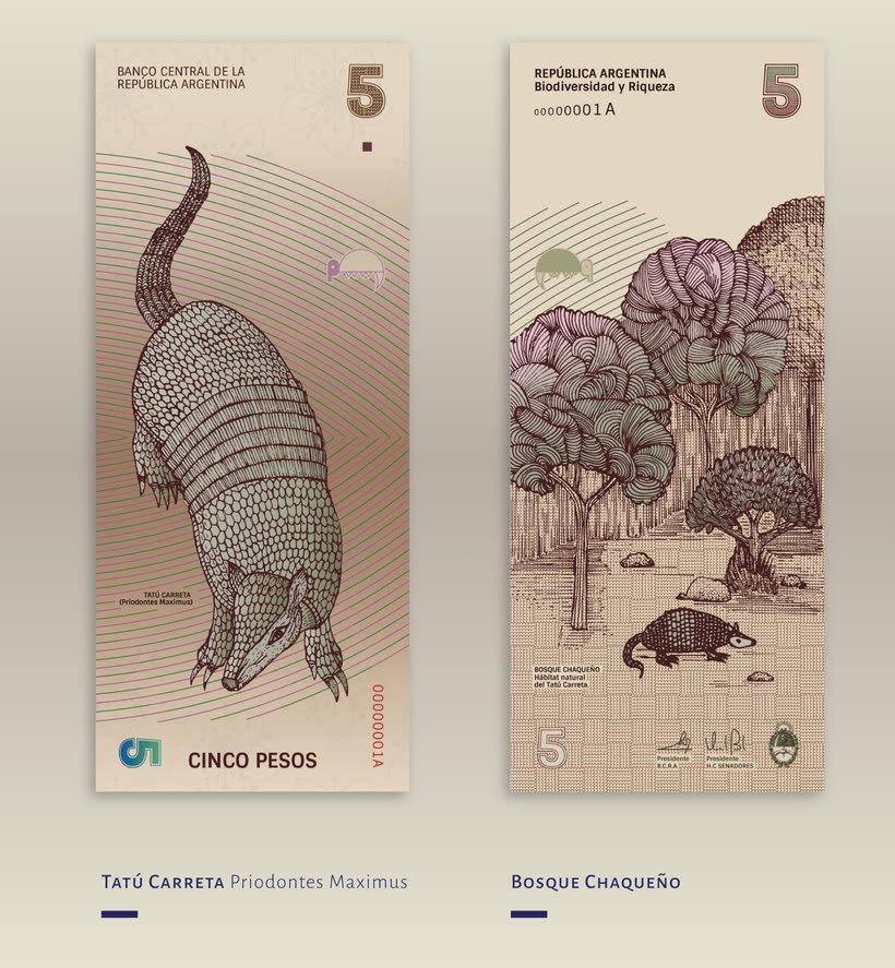 Billetes que muestran la biodiversidad argentina 3