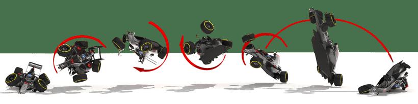 Infografía del accidente de Alonso 0