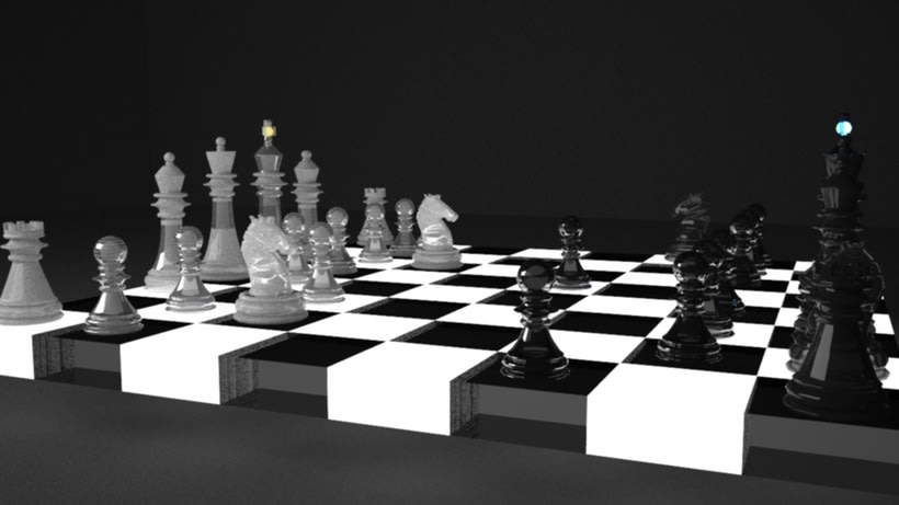 Ajedrez Retroiluminado 3DMax. 1