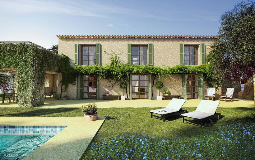 Interiorismo y visualización 3D de una vivienda rústica en Santanyí, Mallorca 0