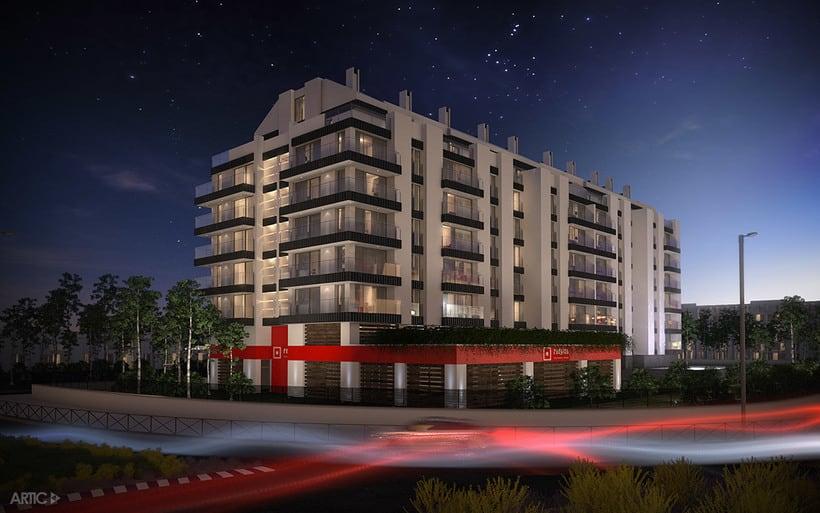 Interiorismo y visualización 3D de una promoción residencial 2