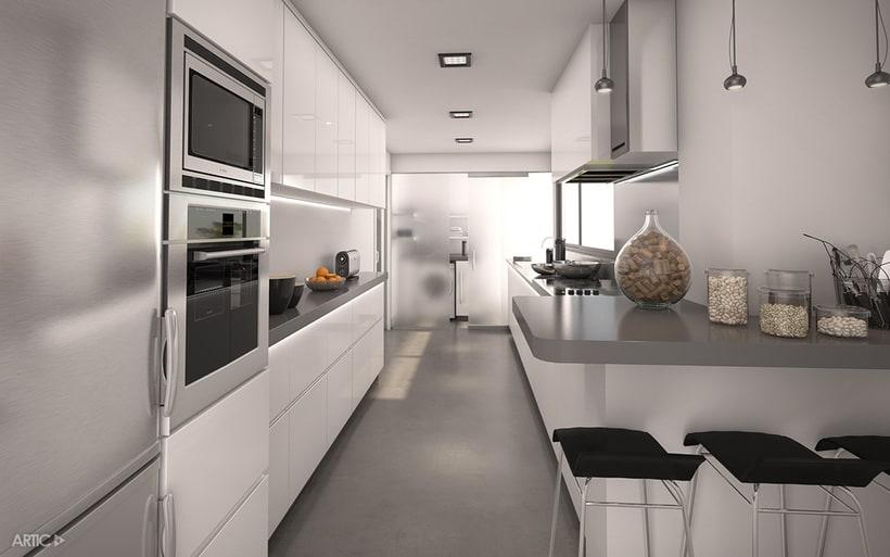 Interiorismo y visualización 3D de una promoción residencial 1