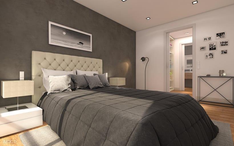 Interiorismo y visualización 3D de una promoción residencial 0