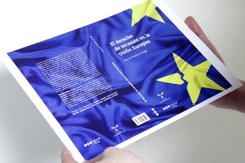 """Diseño de la cubierta del libro """"Derecho de secesión en la  Unión Europea"""" 0"""