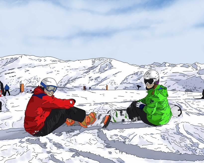 Ilustración snowboarders -1