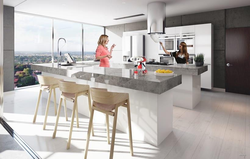 3d Visualización Arquitectónica - Interiores 2