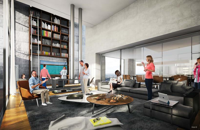 3d Visualización Arquitectónica - Interiores 5