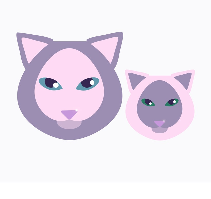 Gatos - vector -1