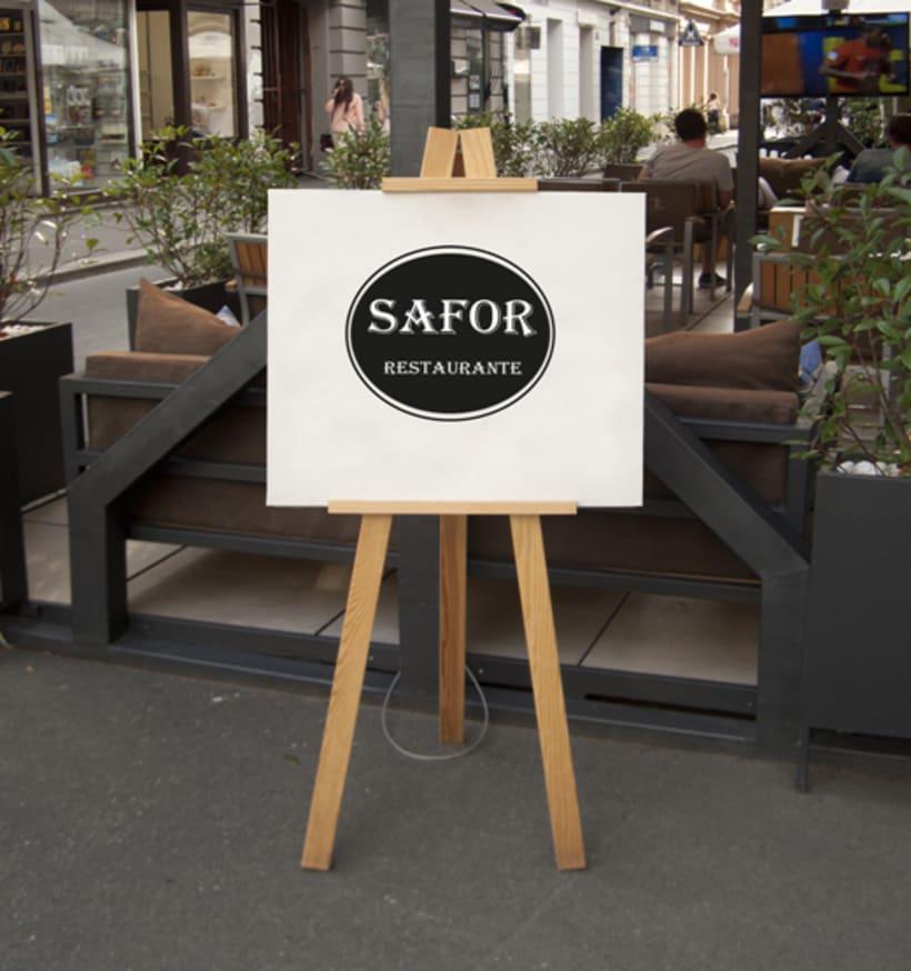Logo Corporativo Restaurante Safor 6
