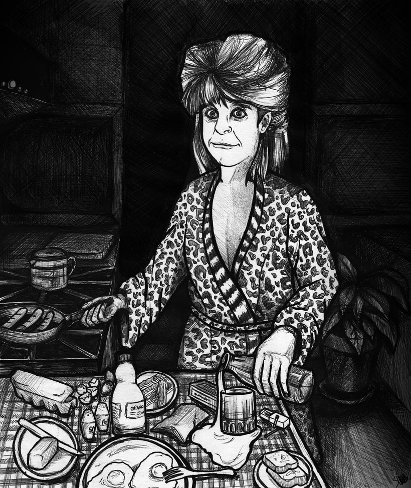 Ilustración 'Ozzy makes breakfast' para Hostia un Libro -1
