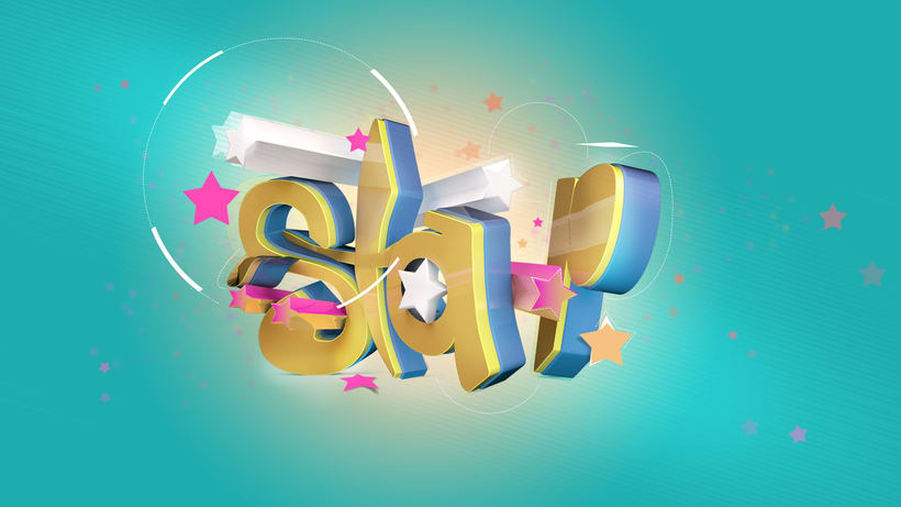 """Texto en 3D """"Star"""" 1"""