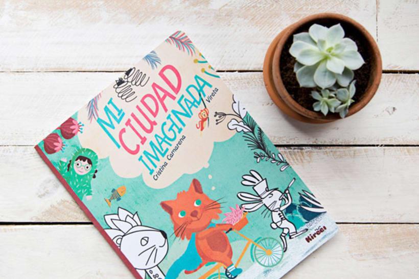Mi ciudad imaginada, cuento y libro de creatividad libre para niños 0