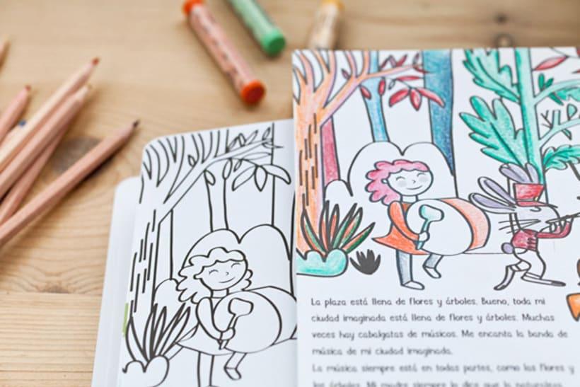 Mi ciudad imaginada, cuento y libro de creatividad libre para niños 4