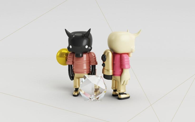 Mi Proyecto del curso: Diseño de personajes en Cinema 4D: del boceto a la impresión 3D. 2