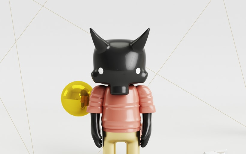 Mi Proyecto del curso: Diseño de personajes en Cinema 4D: del boceto a la impresión 3D. 3