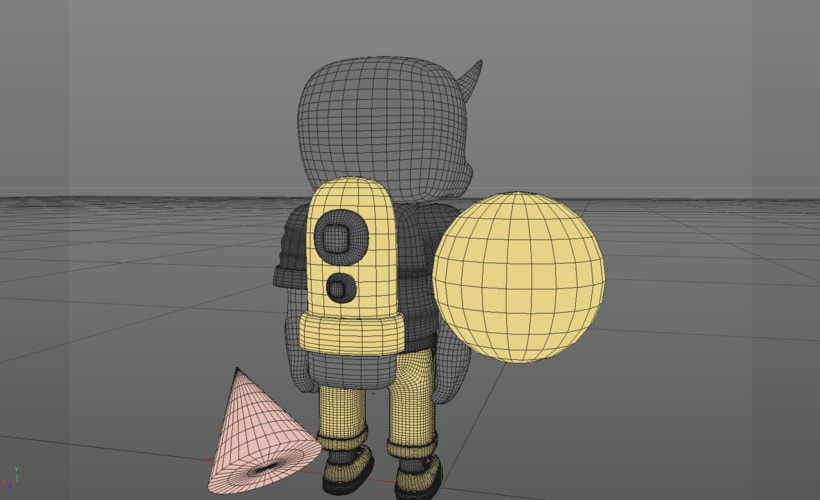 Mi Proyecto del curso: Diseño de personajes en Cinema 4D: del boceto a la impresión 3D. 10
