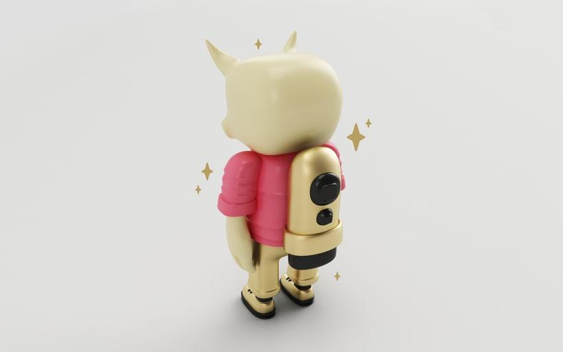 Mi Proyecto del curso: Diseño de personajes en Cinema 4D: del boceto a la impresión 3D. 7