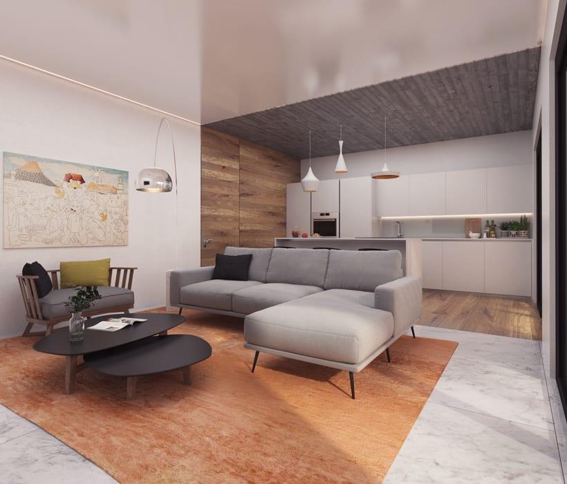 Infografías Fachada-Terraza-Salón-Cocina 0