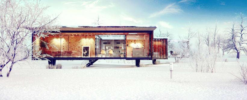 Container House / 3d Arch Viz. 1