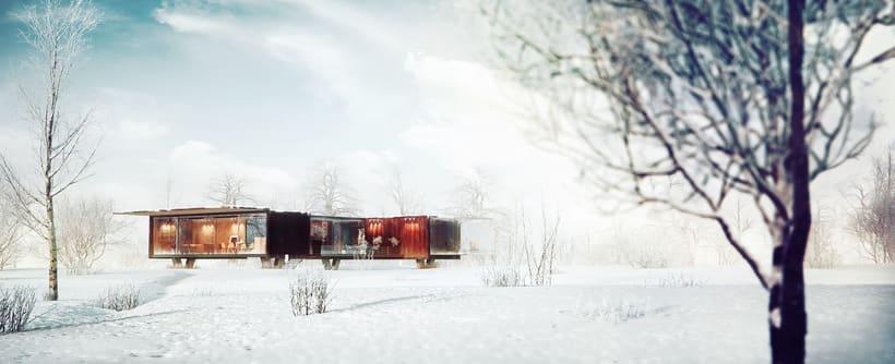 Container House / 3d Arch Viz. 0