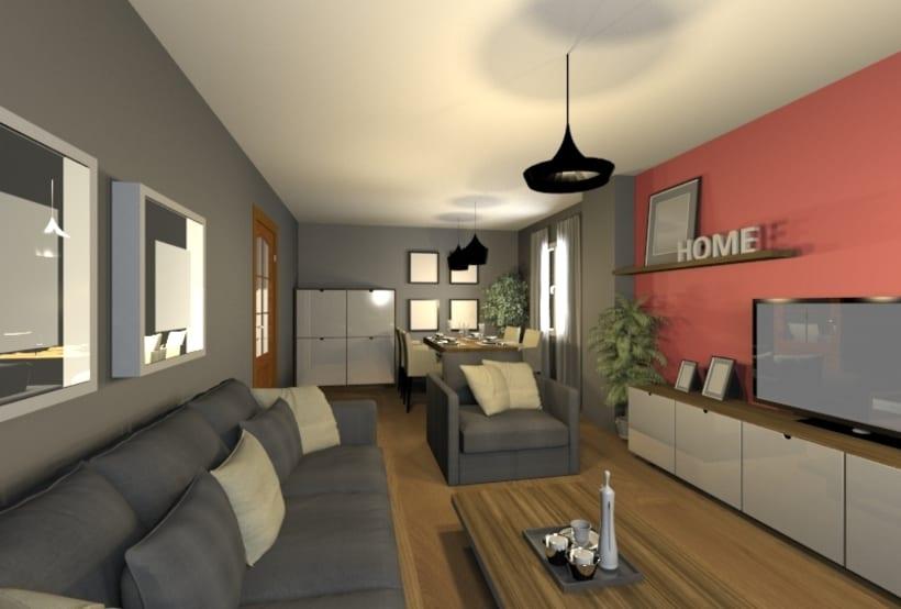 Diseño salón/Comedor | Domestika