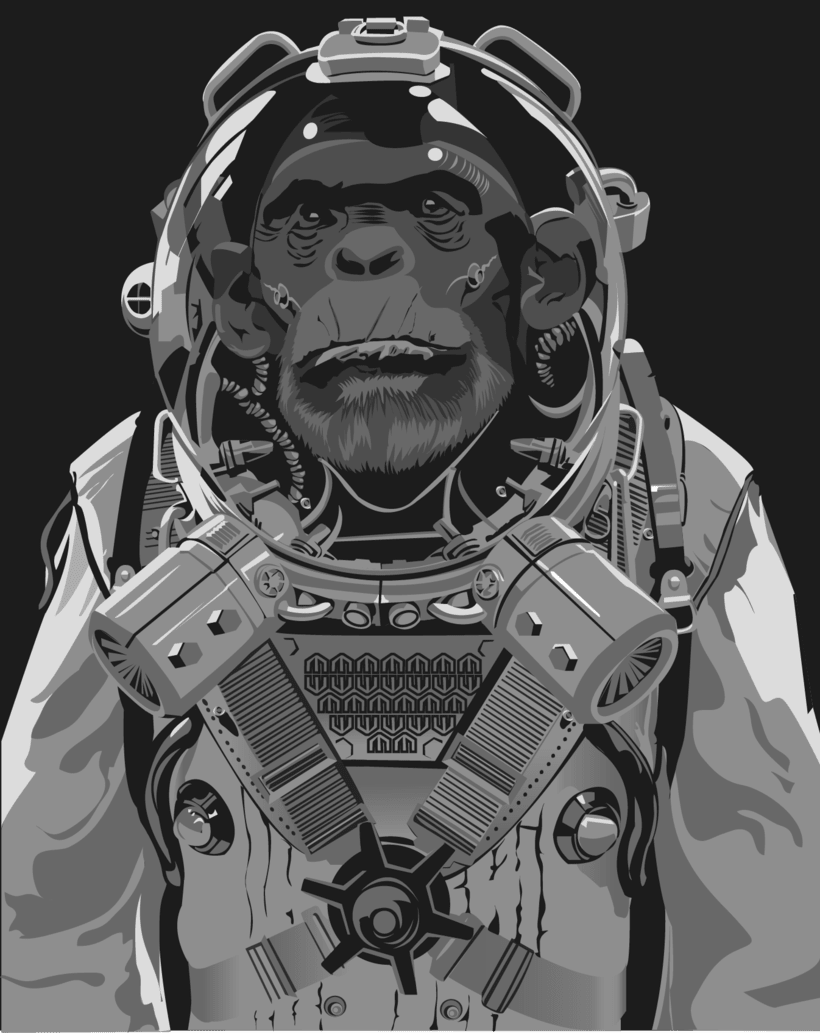 Mono Astronauta  -1