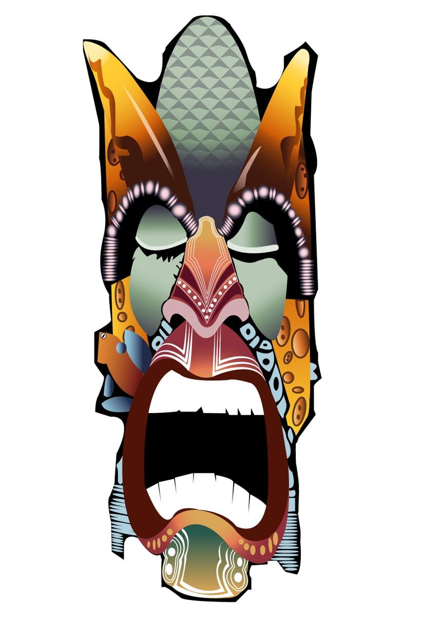 Máscara Boruca. Diseño realizado para grupo folclórico 0
